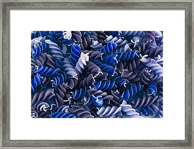 Blue Pasta Framed Print by D Plinth