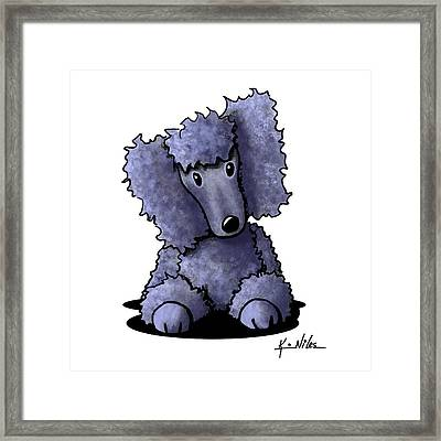 Blue Poodle Framed Print by Kim Niles