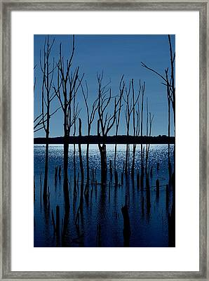 Blue Reservoir - Manasquan Reservoir Framed Print by Angie Tirado