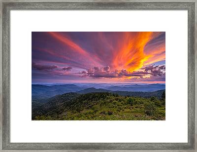 Blue Ridge Parkway - Summer Wages Framed Print by Jason Penland