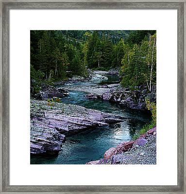 Blue River Framed Print by Joseph Noonan