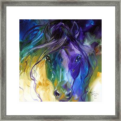 Blue Roan Abstract Framed Print by Marcia Baldwin