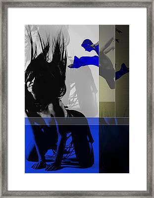 Blue Romance Framed Print by Naxart Studio