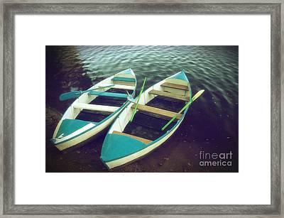 Blue Row Boats Framed Print by Carlos Caetano