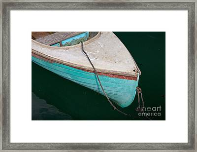 Blue Rowboat 1 Framed Print by Susan Cole Kelly
