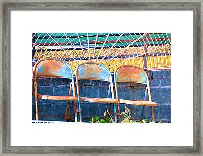 Blue Rust Framed Print by Jan Amiss Photography
