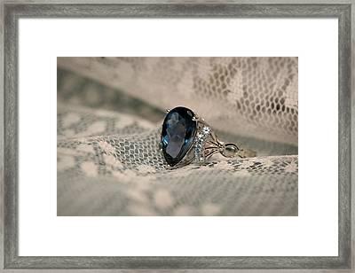 Blue Sapphire Framed Print by Gary Yost