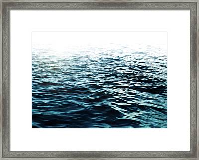 Blue Sea Framed Print by Nicklas Gustafsson