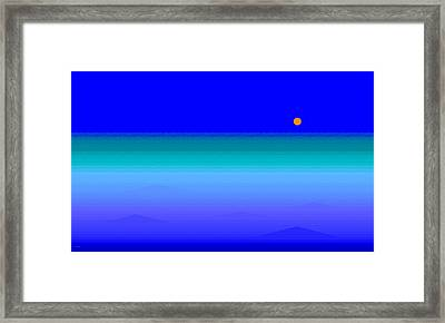 Blue Sea Framed Print by Val Arie