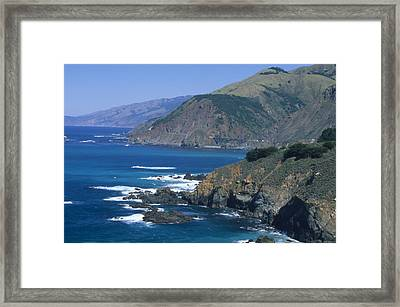 Blue Seas - Highway One California Framed Print by Soli Deo Gloria Wilderness And Wildlife Photography