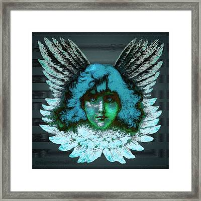 Blue Seraph Framed Print by Mimulux patricia no