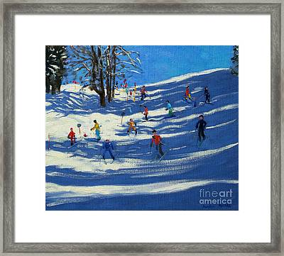 Blue Shadows Framed Print by Andrew Macara