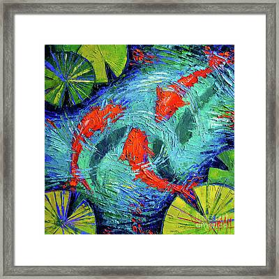 Blue Silence Framed Print by Mona Edulesco