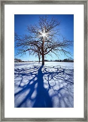 Blue Skies Smiling At Me Framed Print by Phil Koch