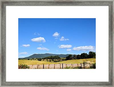 Blue Skies Framed Print by Todd Hostetter