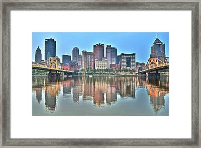 Blue Sky Reflecting Water Framed Print by Frozen in Time Fine Art Photography