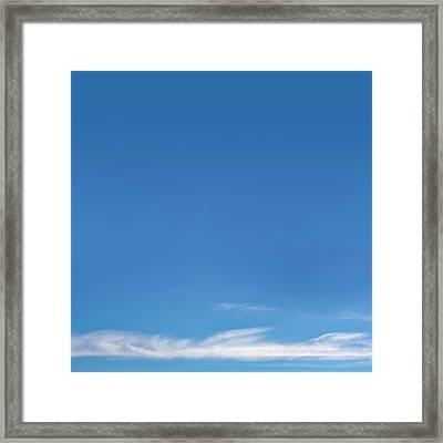 Blue Sky Framed Print by Scott Norris