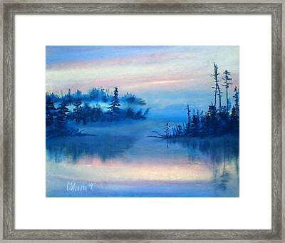 Blue Solitude Framed Print by Cathy Weaver
