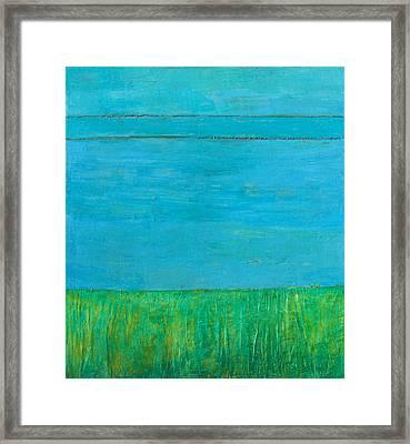 Blue Space Framed Print by Habib Ayat