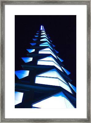 Blue Spire Framed Print by Richard Henne