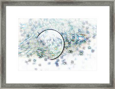 Blue Star Abstract Framed Print by Linda Phelps