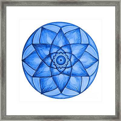 Blue Star Flower Framed Print by Cveti Dinkova