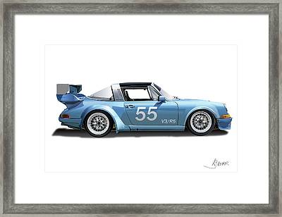 Blue Targa Framed Print by Alain Jamar