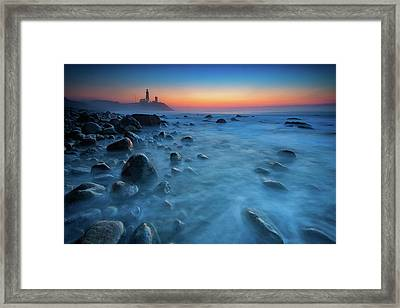 Blue Tide Framed Print by Rick Berk