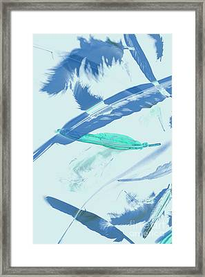 Blue Toned Artistic Feather Abstract Framed Print by Jorgo Photography - Wall Art Gallery