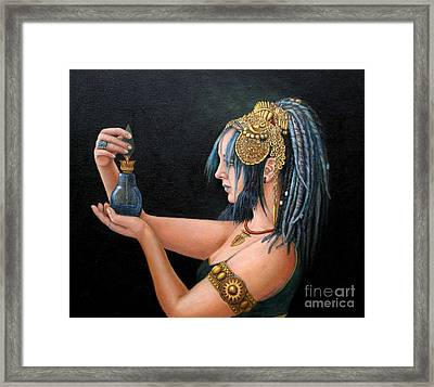 Blue Tribe Framed Print by Enzie Shahmiri