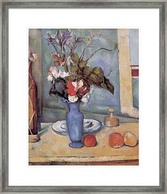 Blue Vase Framed Print by Paul Cezanne