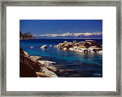 Blue Water Lake Tahoe Framed Print by Vance Fox
