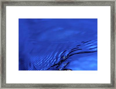 Blue Wave Abstract Number 5 Framed Print by Steve Gadomski