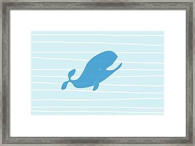 Blue Whale Framed Print by Frank Tschakert