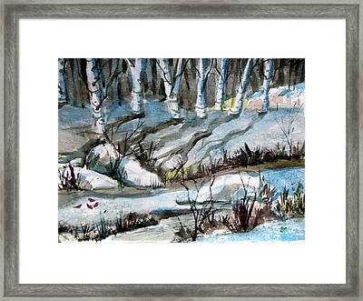 Blue Winter Framed Print by Mindy Newman