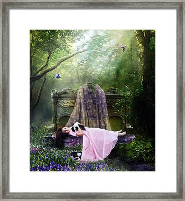Bluebell Dreams Framed Print by Mary Hood