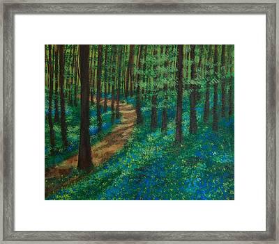 Bluebell Forest Framed Print by Elizabeth Mundaden
