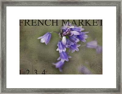 Bluebells Framed Print by Rebecca Cozart