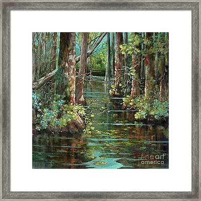 Bluebonnet Swamp Framed Print by Dianne Parks