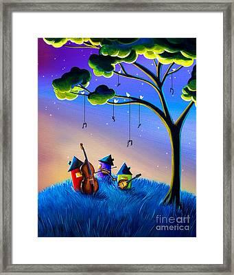 Bluegrass Nights Framed Print by Cindy Thornton