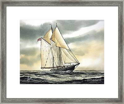 Bluenose  Framed Print by James Williamson