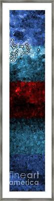 Vertical Blues And Red Strata - Abstract Tiles No. 16.0114 Framed Print by Jason Freedman