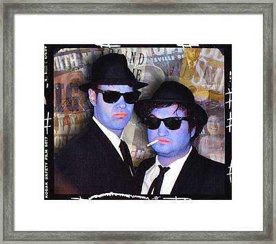 Blues Brothers Sepia Framed Print by Tony Rubino