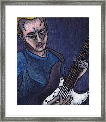 Blues Player Framed Print by Kamil Swiatek