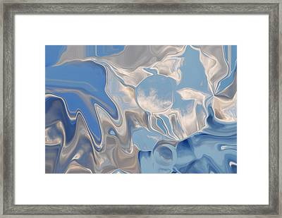 Bluesky Cloud Abstract Framed Print by Michelle  BarlondSmith
