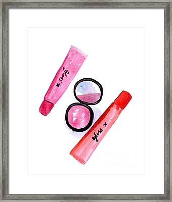 Blush And Gloss Framed Print by Sweeping Girl