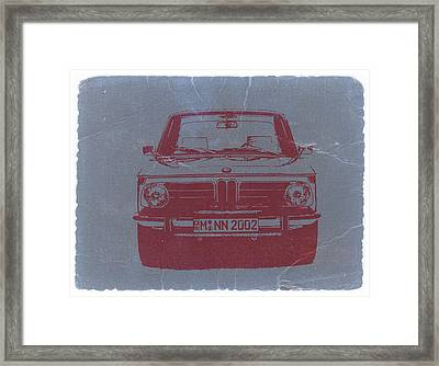 Bmw 2002 Framed Print by Naxart Studio