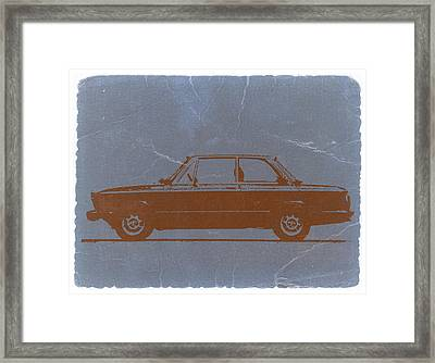 Bmw 2002 Orange Framed Print by Naxart Studio