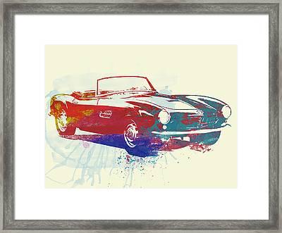 Bmw 507 Framed Print by Naxart Studio