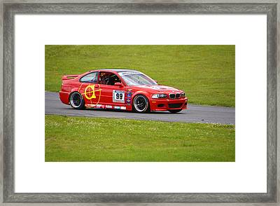 Bmw 99 On Track Framed Print by Mike Martin